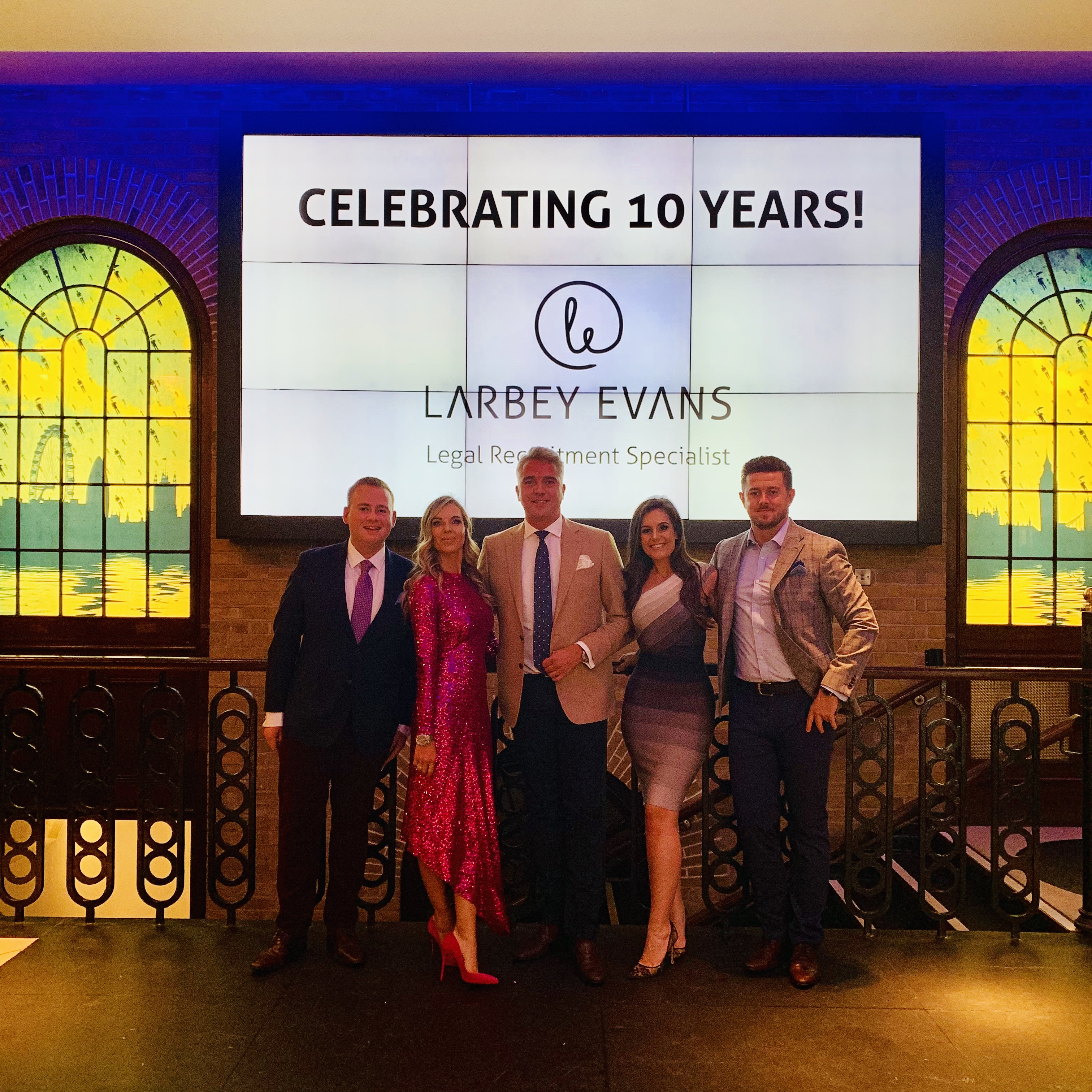 "Celebrating ""one decade"" of Larbey Evans!"